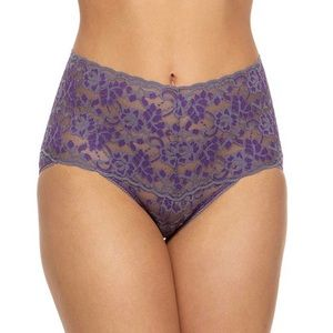 Hanky Panky Cross-Dyed Floral Lace Retro V-Kini